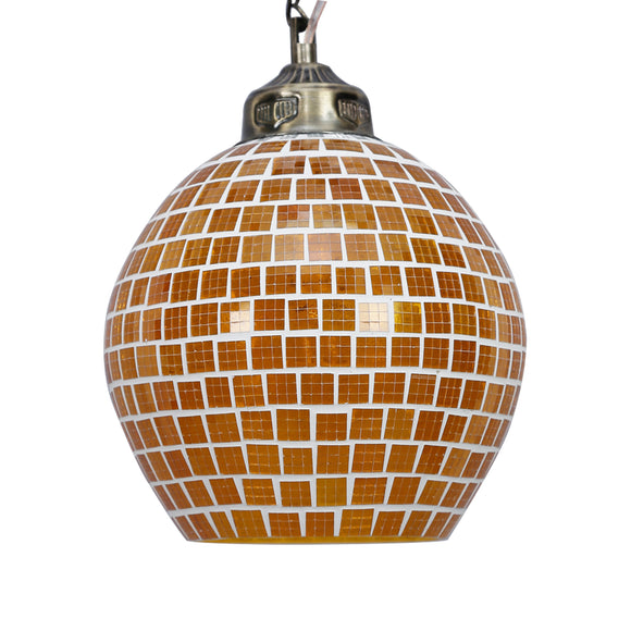 Multicolour mosaic glass ceiling pendant lamp