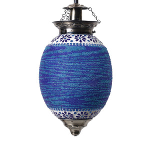 Blue mosaic glass pendant ceiling lamp