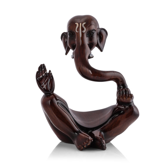 Lord brown ganeshji polyresin showpiece