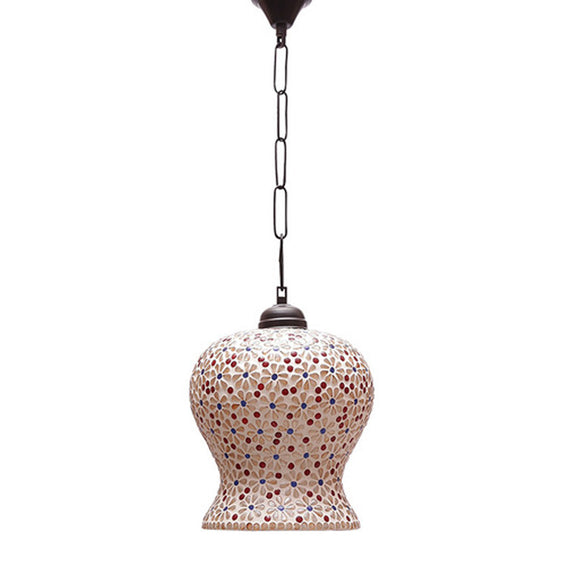 Glass hanging floral pendant ceiling lamp