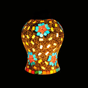 Multicolour mosaic flower ceiling pendant lamp