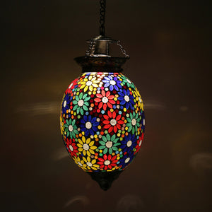 Colourful glass hanging pendent lamp