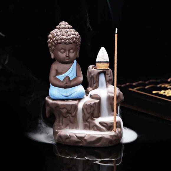 Monk Buddha Incense Burner Decorative Showpiece