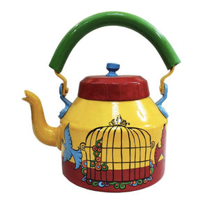 Hand Crafted Freedom Tea Kettle Decorative Showpiece