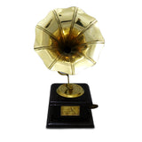 Golden brass colour ethnic gramophone showpiece