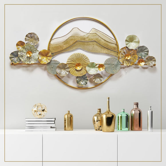 Metal wall figurines LED wall art
