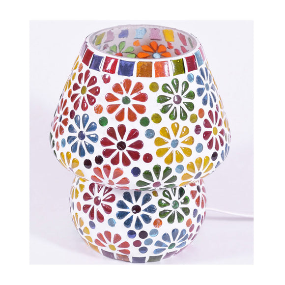 Flower multicolour glass table lamp
