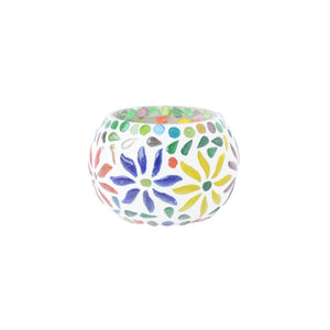 Small Mosaic Glass Tea Light Holder