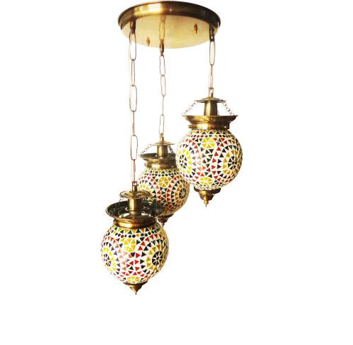 Multicolour glass ceiling pendent chandelier
