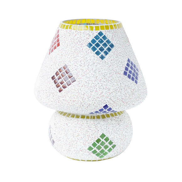 Multicolour glass mosaic waveform table lamp