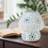Multicolour Burgeon Glass Traditional Table Lamp