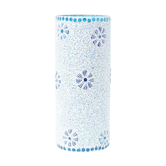 Blue glass mosaic bulbous table lamp