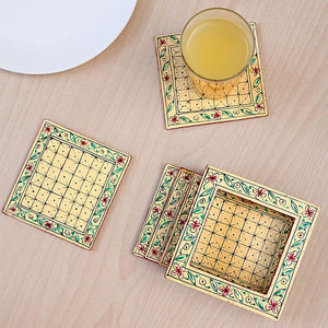MDF light yellow tea coasters