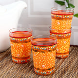 Orange Tea Glass Set Of 4