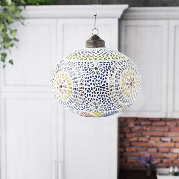 Multicolour glass huron ceiling hanging lamp