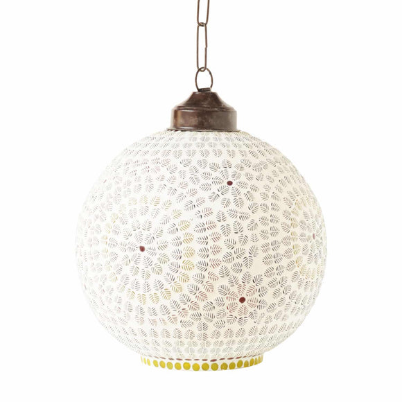 Multicolour glass unravel hanging pendent lamp