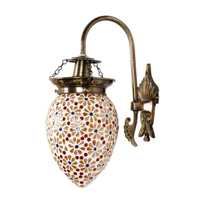 Beautiful small flowers mosaic wall lamp