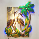 Two Swans Metal Wall Art