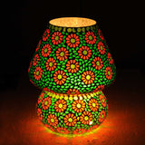 Jugnoo multicoloured glass table lamp