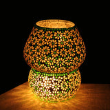 Multicolour mosaic glass luxuriate table lamp