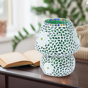 Green Mosaic Glass Elegant Table Lamp