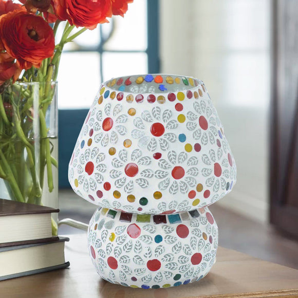 Multicolour Mosaic Glass Chronic Table Lamp