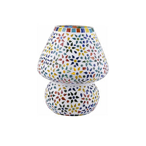 Colourful Mosaic Glass Stars Table Lamp