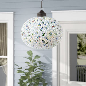 Multicolour Mosaic Glass Fos Pendant Ceiling Lamp