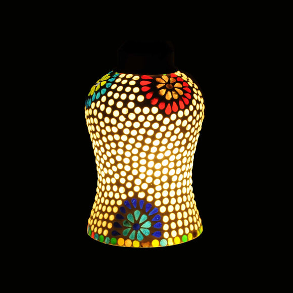 Colourful flowery ceiling pendant lamp