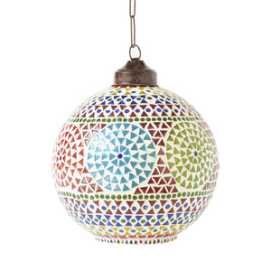 Multicolour glass mosaic oriental ceiling pendant lamp