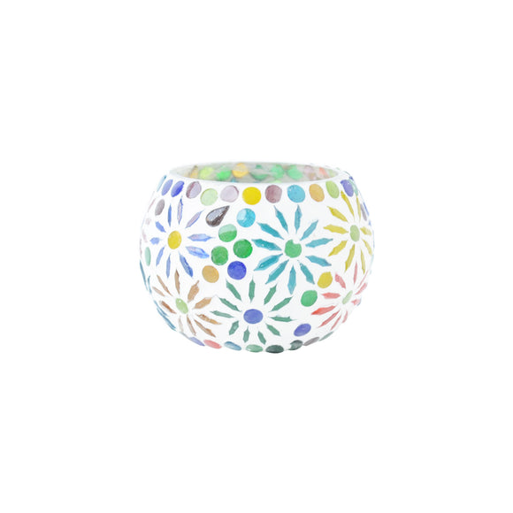 Mosaic unique tea light holder