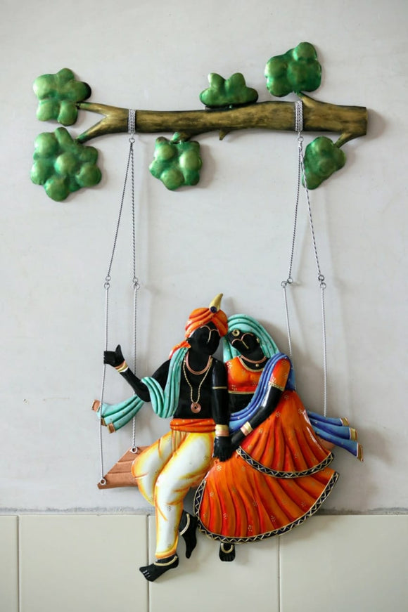 Multicolour Radha Krishna Wall Decor