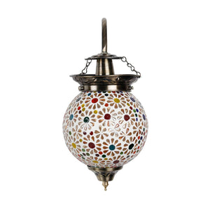 Beautiful beads flower mosaic wall lamp