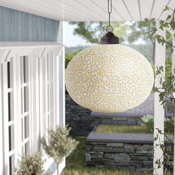 Yellow glass mosaic tulsa ceiling hanging lamp
