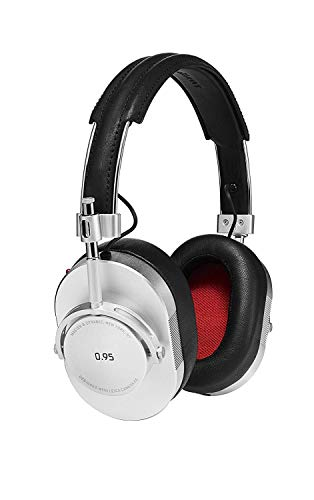 Master & Dynamic Award Winning MH40 Over-Ear, Closed Back Headphones - Silver Metal/Black Leather