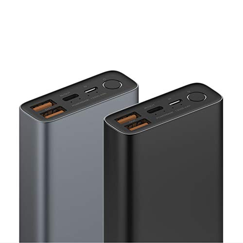 eloop City E36 Portable Charger Power Bank External Battery 12000mAh Compatible with iPhone, iPad, iPod, Samsung, Dual USB Output + USB C 2019 New Model (Silver)