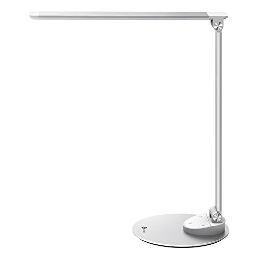TaoTronics LED Desk Lamp with USB Charging Port, 5 Brightness Levels, Touch Control, Memory Function