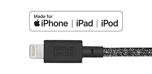 Native Union Key Cable - Ultra-Strong Reinforced [Apple MFi Certified] Lightning to USB Charging Cable with Key Fob for iPhone/iPad - Cosmos