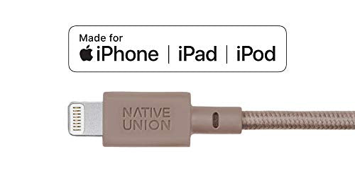 Native Union Key Cable - Ultra-Strong Reinforced [Apple MFi Certified] Lightning to USB Charging Cable with Key Fob for iPhone/iPad - Taupe