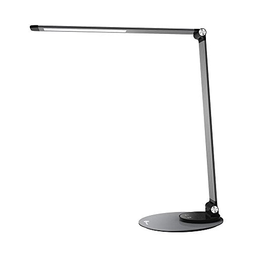 TaoTronics Aluminum Alloy Dimmable LED Desk Lamp with USB Charging Port