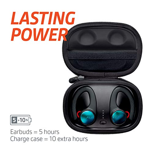 Plantronics BackBeat FIT 3100 True Wireless Earbuds Waterproof in Ear Workout Headphones, Black