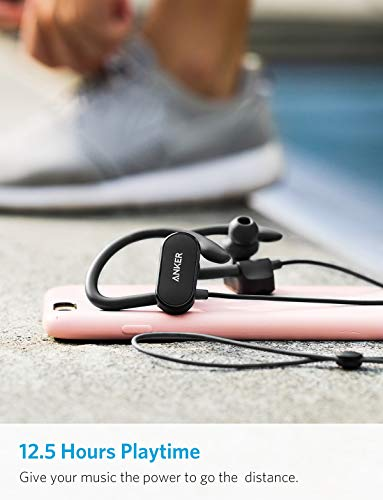 Anker SoundBuds Curve Wireless Headphones with Built-in Mic for Running, Cycling, Workout