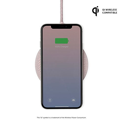 Native Union Drop Wireless Qi Certified Charger - Compatible with iPhone Xs/XS Max/XR/X/8/8 Plus - Rose