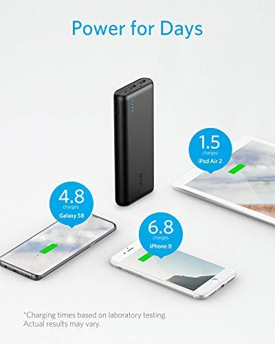 Anker PowerCore 20,100mAh - Ultra High Capacity Power Bank - Black