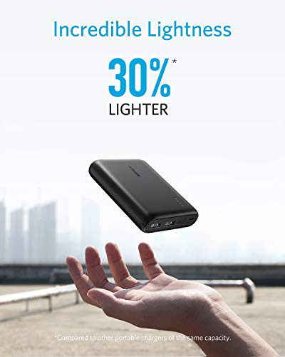 Anker PowerCore 13,000mAh, Compact 2-Port Power Bank - Black
