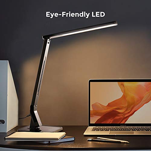 TaoTronics LED Desk Lamp with USB Charging Port, Black