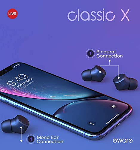 eware Live Classic X True Wireless Earbuds with Charging Case Support Binaural Stereo Talking for iPhone Android Samsung