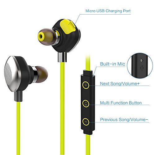 Mifo U5 Plus Sports Bluetooth Headphones - Yellow