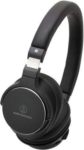 Audio-Technica ATH-SR5BTBK Bluetooth Wireless On-Ear High-Resolution Audio Headphones with Mic & Control - Black