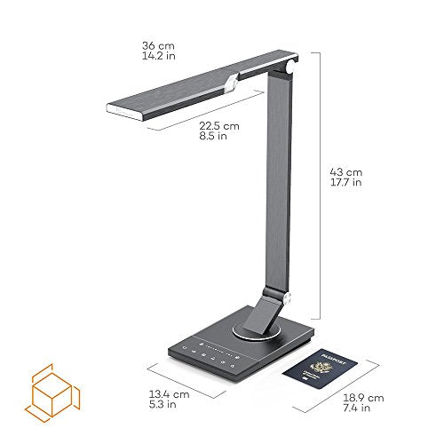TaoTronics TT-DL16 Metal LED Desk Lamp, Touch Control, Timer, Night Light